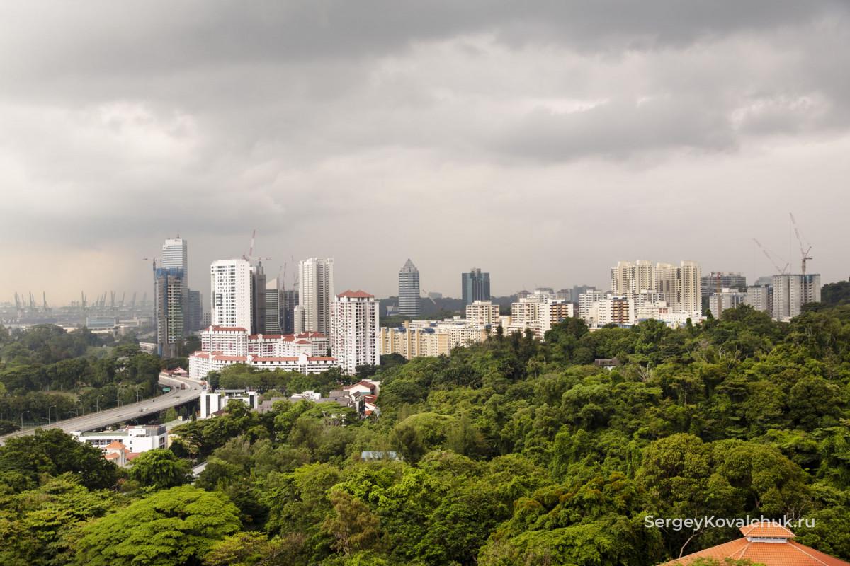 Вид с Гора Фабер в Сингапуре
