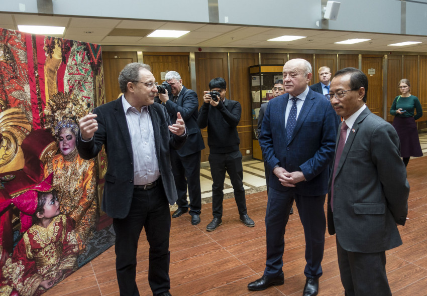 "Opening of Sergey Kovalchuk's photo exhibition ""Faces of Indonesia"" in MGIMO University 15.02.20"