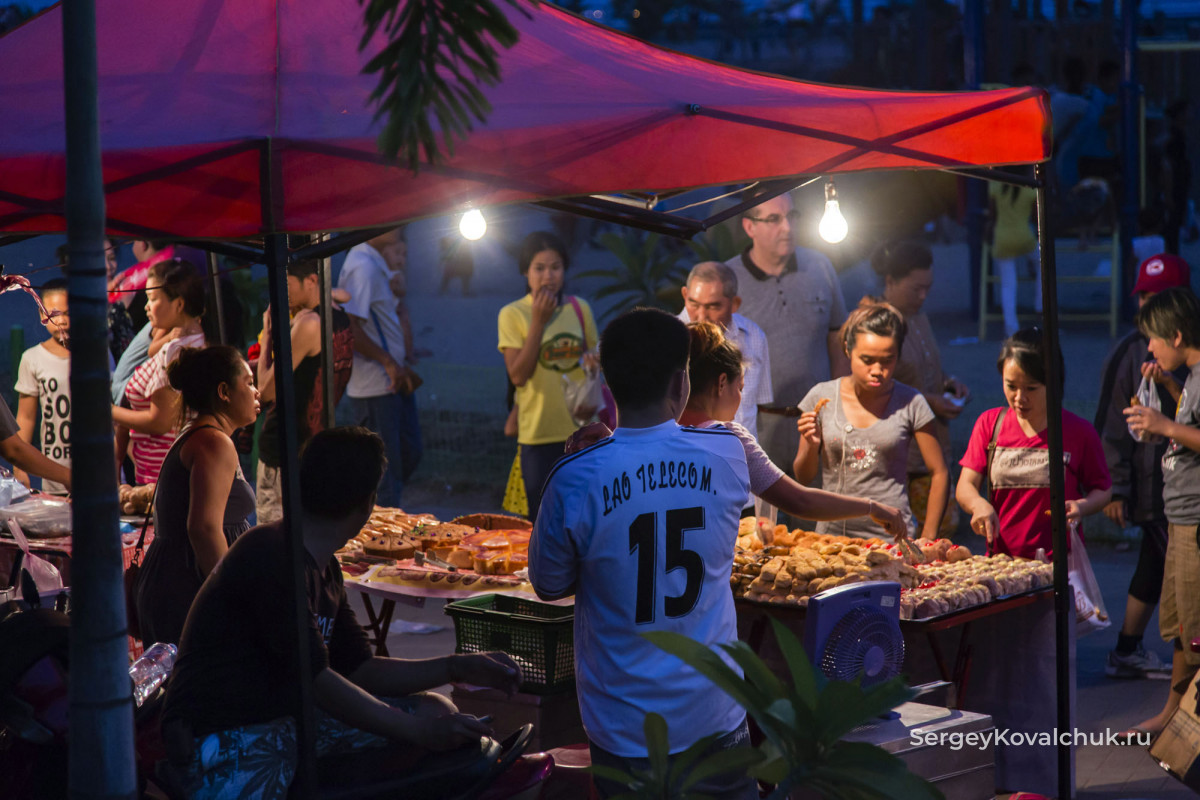 Лаос. Вьентьян. Набережная Меконга